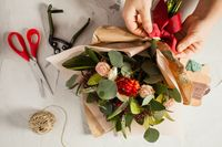 Floral bouquet preparation