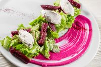 Roasted Beet Salad with Feta and Celery. Appetizer Recipe.