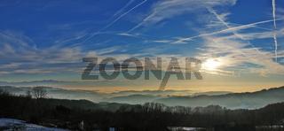 Nebelmeer über dem Bodensee