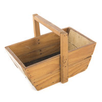 Vintage wooden harvest basket