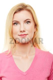 Passfoto oder Bewerbungsfoto einer jungen Frau