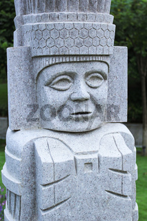 Poker Stone K Sculpture