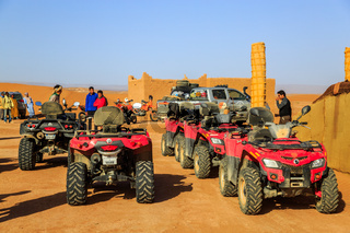 Ait Saoun, Morocco - February 22, 2016: Rally car buggy in desert.