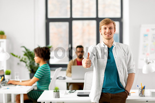 happy smiling man at office
