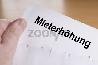 Mieterhöhung is German for rent increase