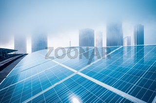 roof solar energy with modern building