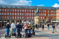 Segway tour Mayor Plaza. Madrid