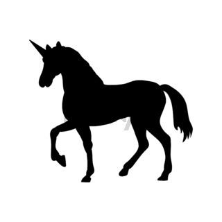 Unicorn silhouette mythology symbol fantasy