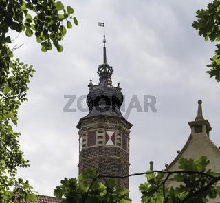 Burgturm der Burg Vischering in Lüdinghausen, Münsterland, NRW
