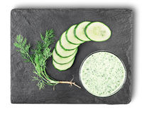 Cucumber smoothie top view