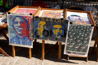 kubanischer Freund Obama,Plaza de Armas,Havanna