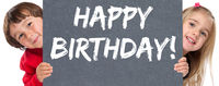 Happy Birthday alles Gute zum Geburtstag Kinder klein Schild