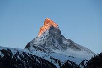 Sunset view of the Matterhorn