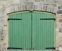 Double Green Doors