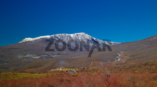Panorama view to Demirji mountain range, Crimea