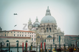 Basilica Di Santa Maria della Salute in Venice in the morning