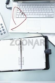 Items on office desk