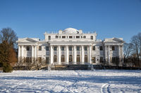 Elagin Palace on Elagin Island in winter
