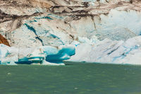 The ice-floes, broken away from a glacier