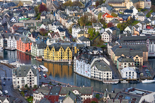 City View of Alesund in Norway