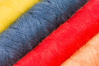 Abstract background of cotton yarn bobbins