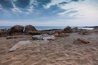Sonnenuntergang, Strand auf Zypern