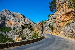 Sharp mountain highway