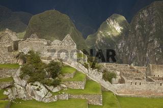 Ruins of Lost Incan City Machu Picchu near Cusco in Peru