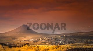Zendan-e Soleyman volcano in Iran