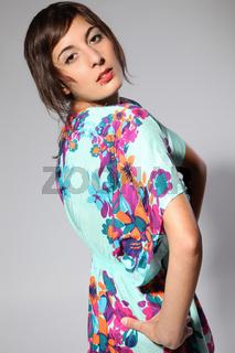 Summer Floral Dress Pose