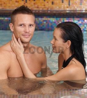 Happy couple on wellness