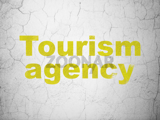 Tourism concept: Tourism Agency on wall background