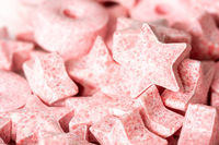 Star-shaped candy in the pile