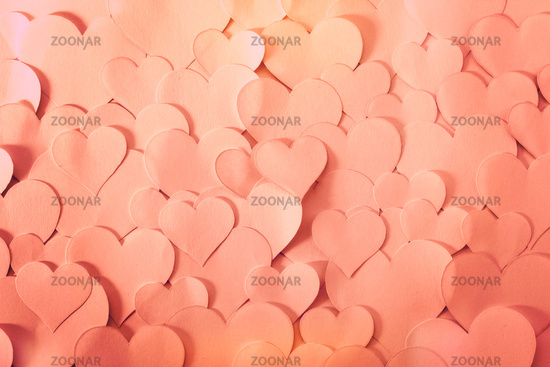 Heart shaped papers, background texture.