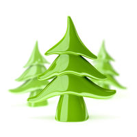 green pottery christmas tree