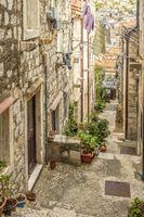 The Narrow Side Streets Of Old Dubrovnik Croatia