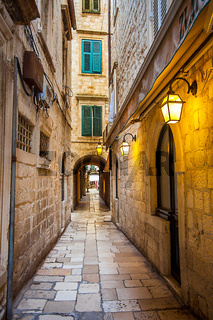 Alley in the old town of Dubrovnik Croatia