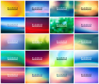 BIG set of 20 horizontal wide blurred nature backgrounds. With various quotes