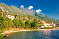 Beach im Malcesine on Lago di Garda