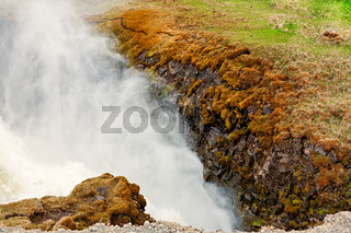 Closeup of Gullfoss waterfall