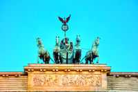 Quadriga on top of the Brandenburger tor