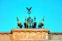 Quadriga on top of the Brandenburger tor