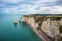 White cliffs of Etretat and the Alabaster Coast, Normandy, France