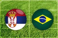Serbia vs Brazil football match