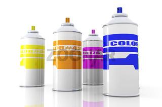 Color Aerosol Cans