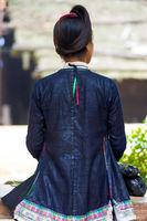 Biasha Miao Minority Woman Rear Bun Hairstyle