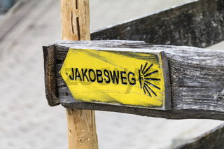 Hinweisschild Jakobsweg