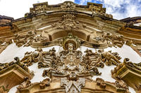Church baroque style sculptures and ornaments