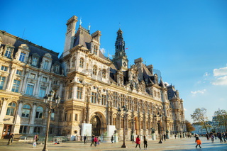 City Hall building (Hotel de Ville) in Paris