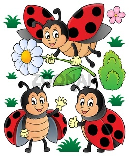 Happy ladybugs theme set 1